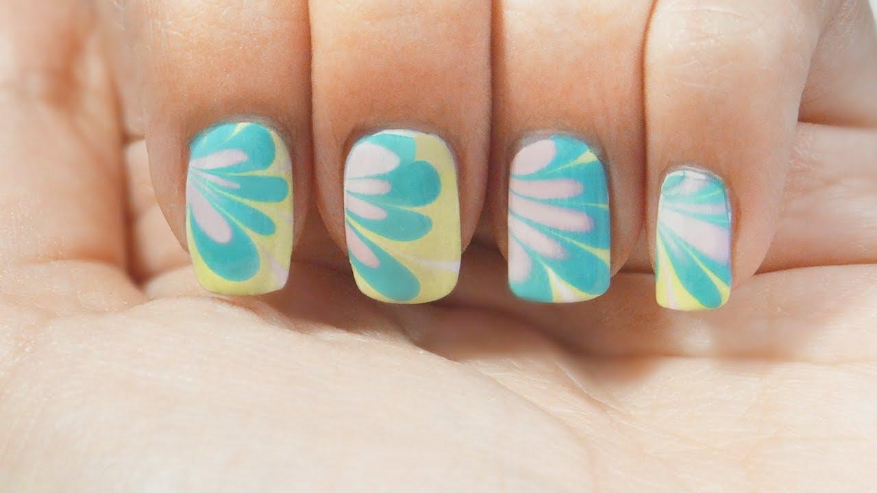 Uñas marmoleado al agua TRUCOS water marble nails tips manicura ...