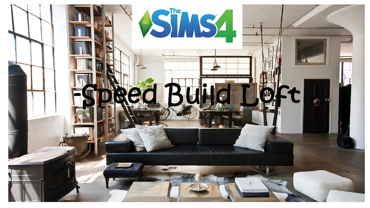 The sims 4 loft bedroom speed build youtube for How to make a loft room