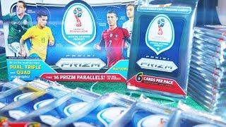 MESSI IM PACK! PANINI DISPLAY PRIZM WM 2018 auspacken