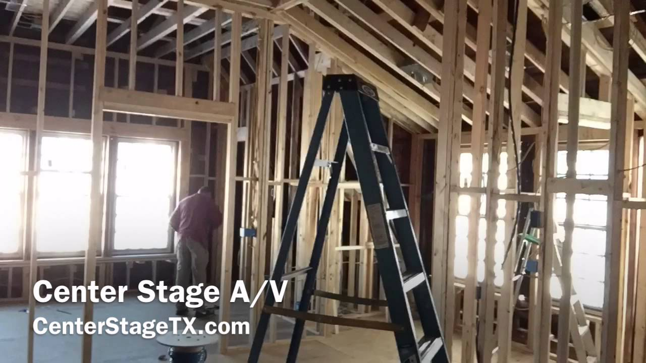pre wire install home theater media rooms structured wire center stage a v frisco tx [ 1280 x 720 Pixel ]