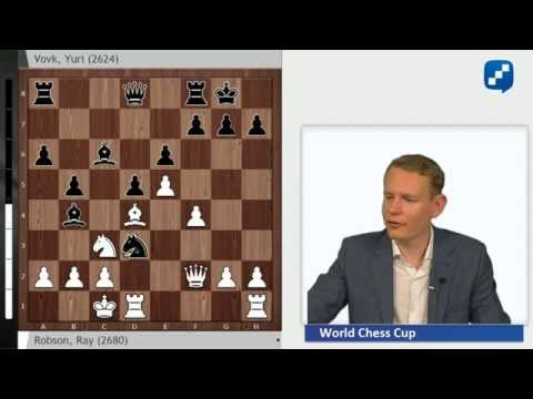 Chess World Cup 2015: Robson - Vovk, the game of the day!