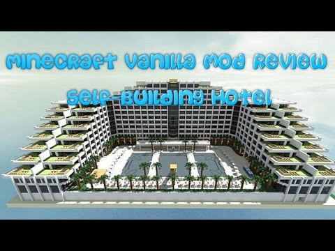 minecraft-vanilla-mod-review!-(auto-building-hotel)