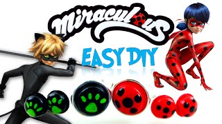 Easy DIY Miraculous Ladybug & Cat Noir Ring and Earring Tutorial Evie's Toy House