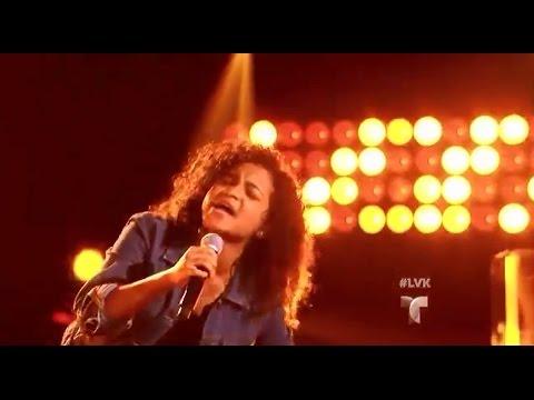 "Amanda Mena canta ""Because of You"" en La Voz Kids"