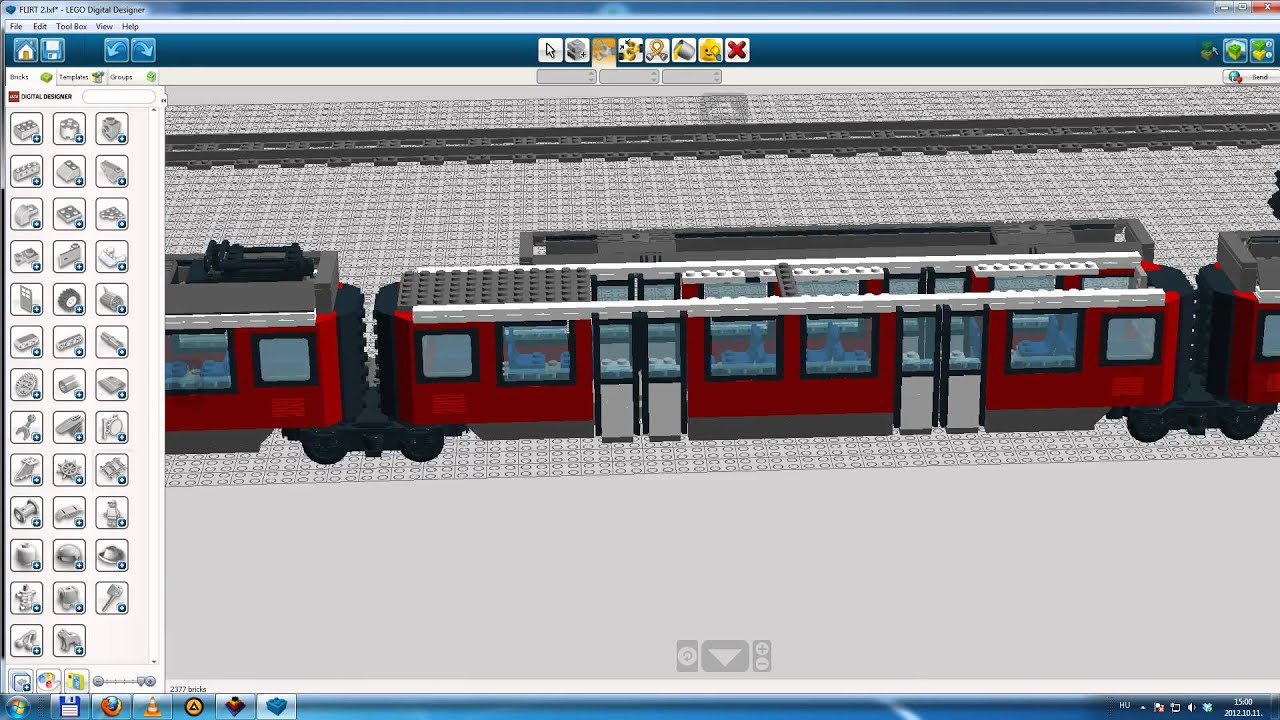 Ldd video lego flirt train mp4 youtube for Lego digital designer templates