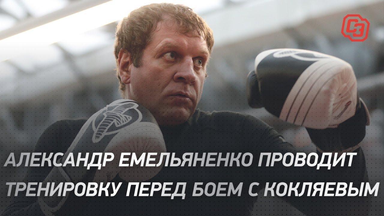 Александр Емельяненко проводит тренировку перед боем с Кокляевым
