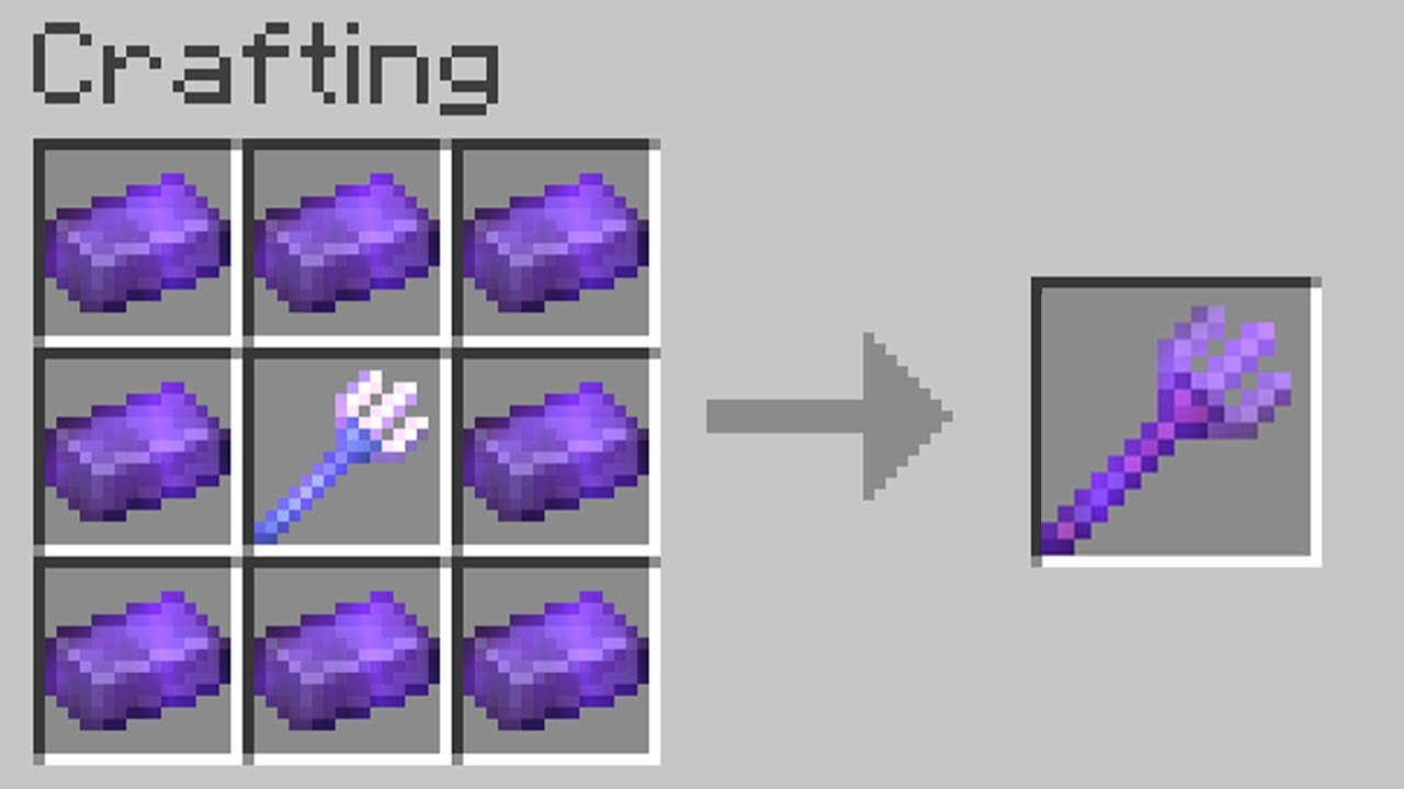 Download Minecraft but you can craft any item from netherite...