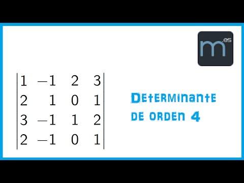 Determinante de una matriz 4x4 (Bachillerato)