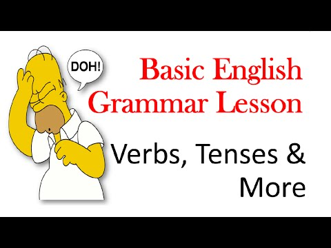 Basic 1 English Grammar Lesson - Beginner, Pre-Intermediate And Intermediate Levels
