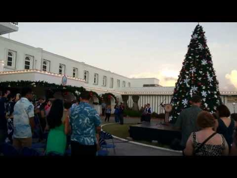 Christmas carol at Government House, Guam 2013