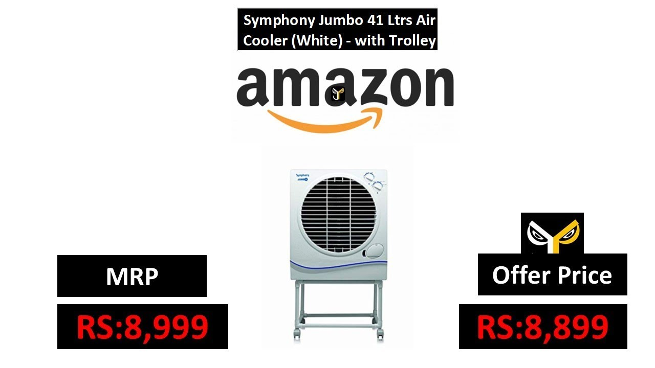 ebd6d04819a Symphony Jumbo 41 Ltrs Air Cooler (White) - with Trolley - YouTube