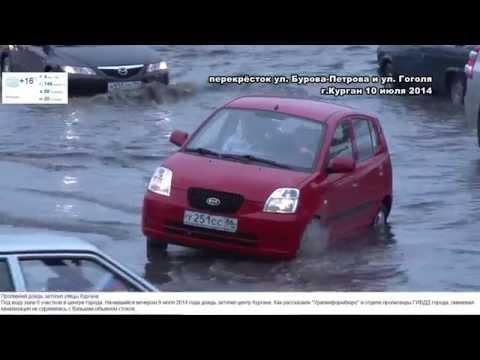Затопленные улицы Кургана