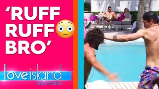 Eoghan and Matthew think they're dogs and wrestlers | Love Island Australia 2019
