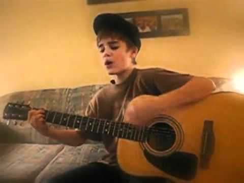 RARE VIDEO EARLY JUSTIN BIEBER SINGING Cry me a River - Justin Timberlake cover