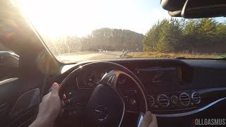 Mercedes Maybach S500 POV Drive on Country Roads