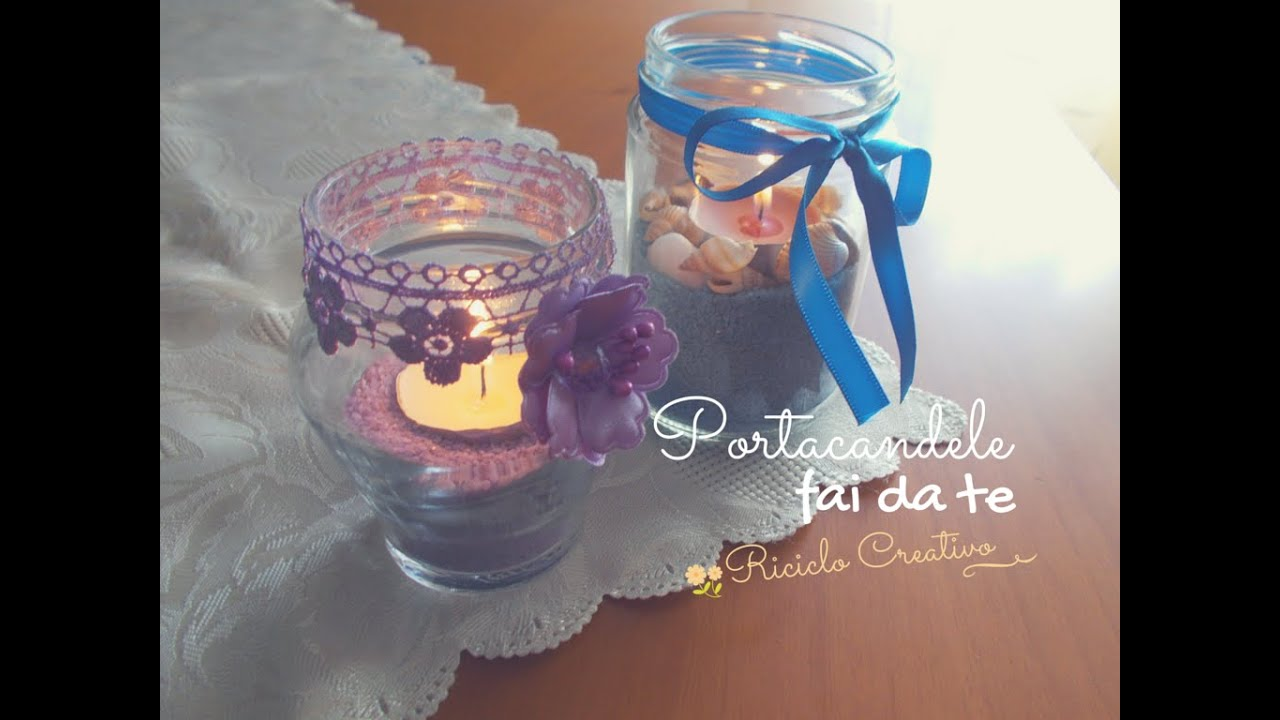 Diy portacandele fai da te tutorial riciclo creativo for Panchine fai da te