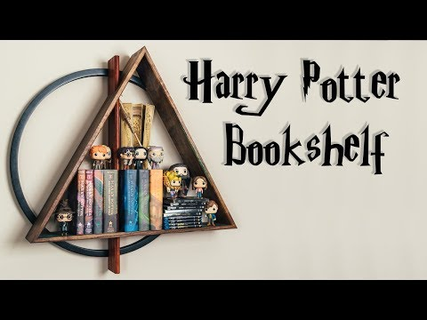 DIY Harry Potter Epoxy Resin Floating Shelf || How To Build - Woodworking