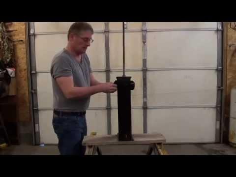 DIY paper log press
