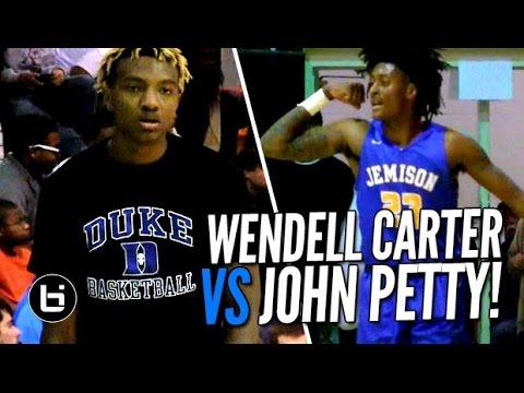 Duke Bound Wendell Carter vs Alabama Bound John Petty Highlights at Light House Classic!