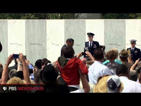 President Obama Lays a Wreath at the 9/11 Memorial in Shanksville, Pa.