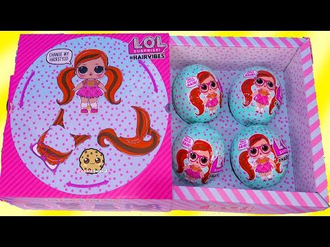 HairVibes  NEW LOL Surprise Hair Style Mix + Match Giant Surprise Blind Bag Balls