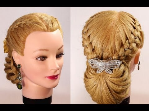 Braided updo Hairstyles  for long  hair  YouTube