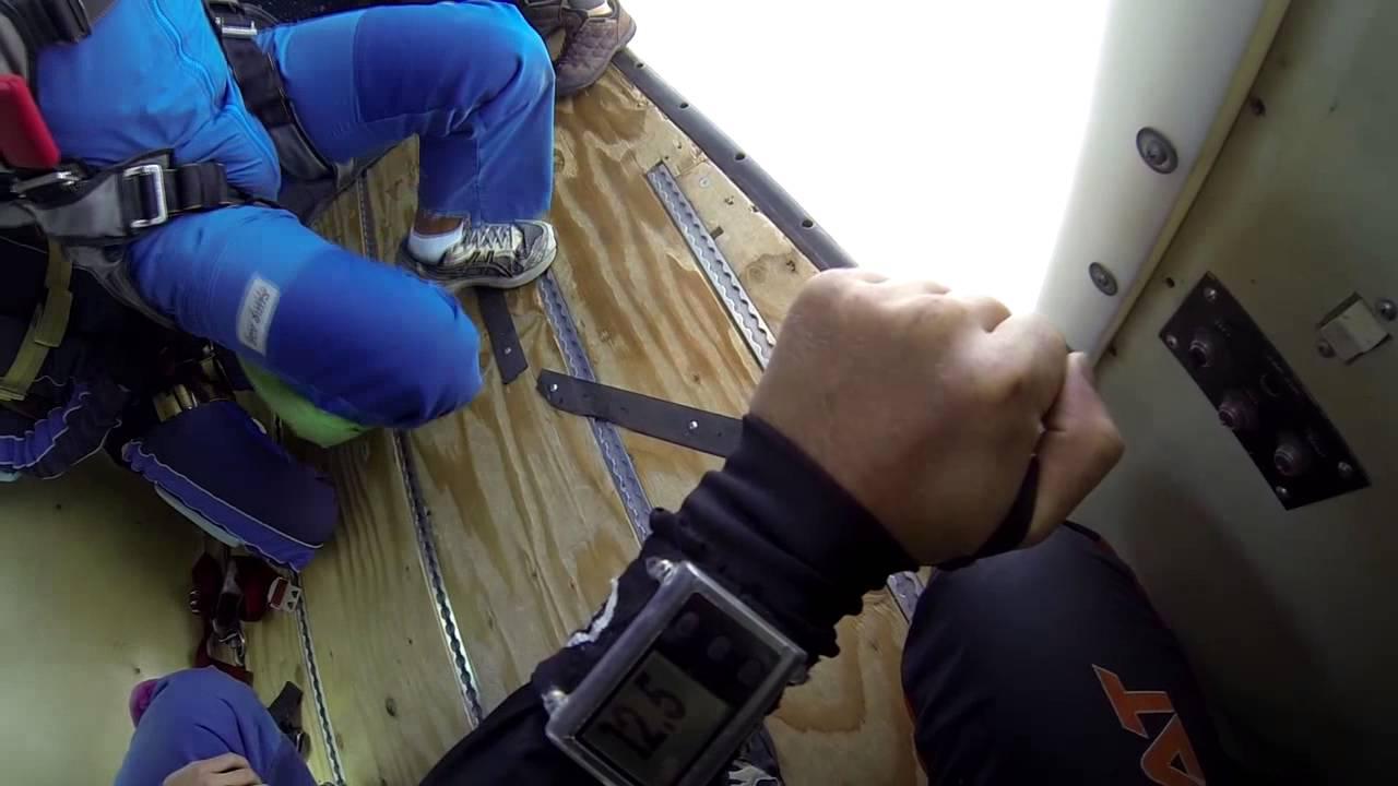 Stephanie Towers Tandem Skydiving At Skydive Elsinore