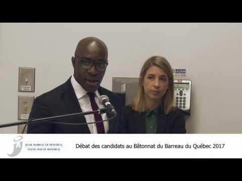 Débat des candidats au Bâtonnat du Barreau du Québec