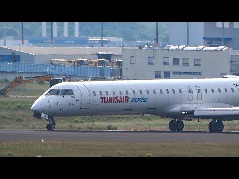 TUNISAIR Express CRJ-900 LANDING at Cologne/Bonn Airport   CologneAviationSpotting