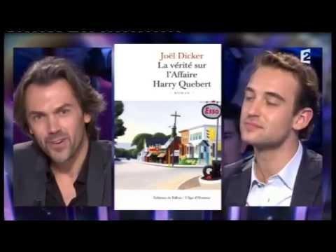 """Joël Dicker """"La vérité sur l'affaire Harry Quebert"""" On n'est pas couché 3 novembre 2012 #ONPC"""