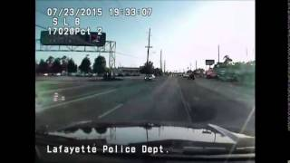 Lafayette theater shooting - dash cam footage