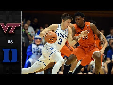 Virginia Tech vs. Duke Basketball Highlights (2017-18)