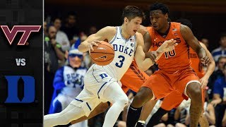 Virginia Tech vs. Duke Basketball Highlights (2017-18)