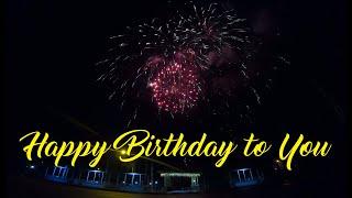 Очень красивый фейерверк на День рождения под \Happy Birthday To You\ Tony Heart