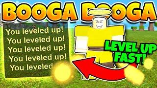 Booga Booga FASTEST WAY TO LEVEL UP! (+REBIRTH)