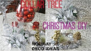 DOLLAR TREE DIY CHRISTMAS DECOR 2016| 5 IDEAS FOR THE HOLIDAY | PETALISBLESS
