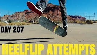 Video 35 Year Old Skateboarding - Day 207 - Terrible Heelflip Attempts download MP3, 3GP, MP4, WEBM, AVI, FLV Juni 2017