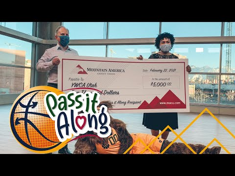 "Mountain America Credit Union and the Utah Jazz ""Pass it Along"" to YWCA Utah"