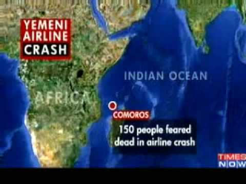 MORONI: Yemen plane crashes in Indian Ocean, 150 on Board - 06-30-09