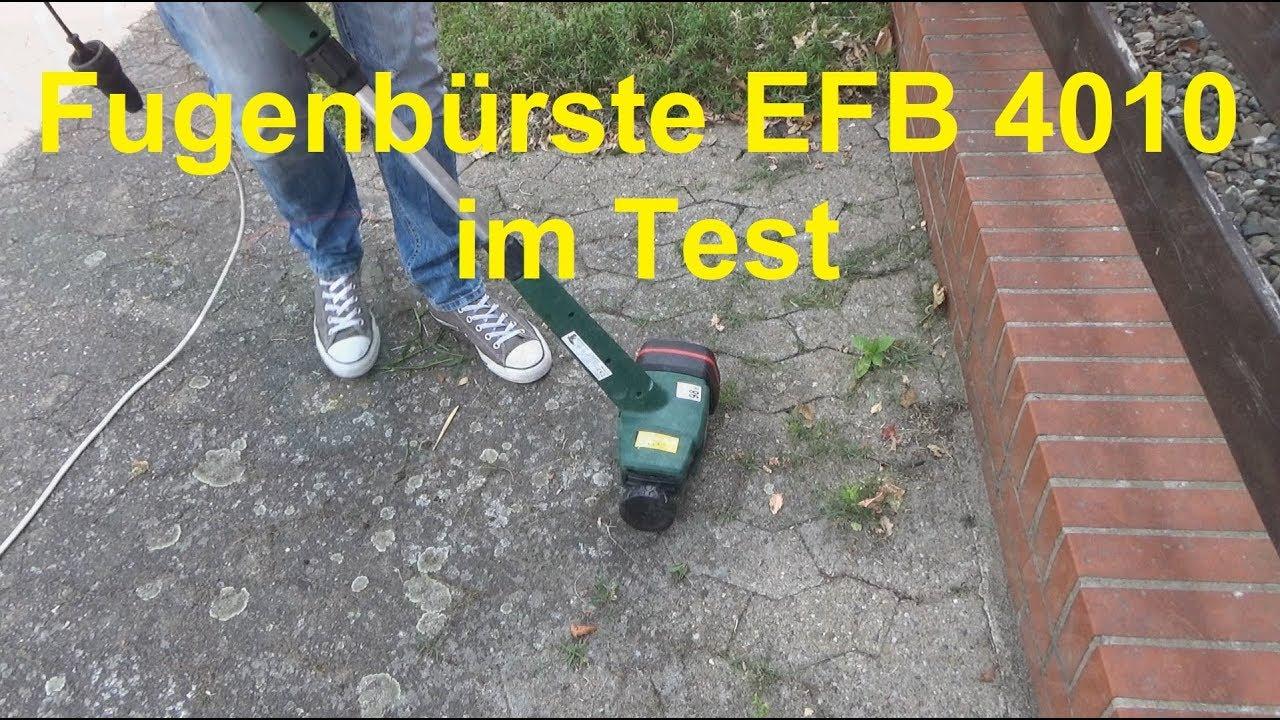 elektro fugenbürste efb 4010 im test unkraut fugen entfernen - youtube