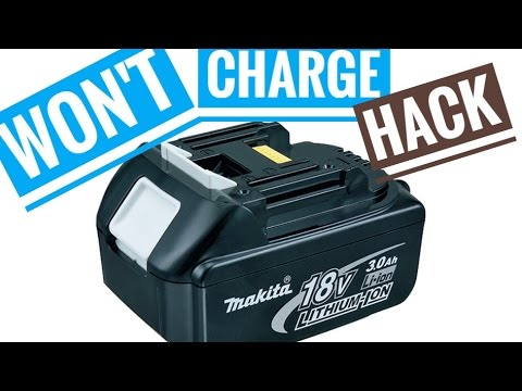 How To Fix Broken Makita 18v Battery Li Ion Not Charging