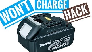 How to Fix Broken Makita 18V Battery Li-ion Not Charging Repair BL1830