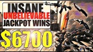 CSGO GAMBLING - JACKPOT $6400! MY BIGGEST WIN EVER!