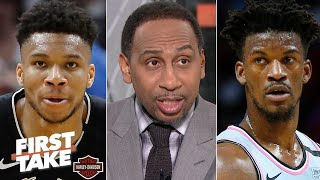Stephen A. breaks down the Bucks' loss vs. the Heat | First Take