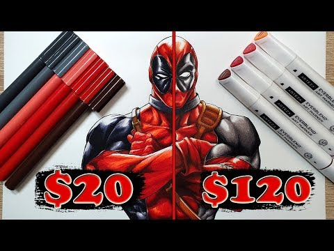 $20 vs $120 MARKER Art | Cheap vs Expensive!! Which is WORTH IT?