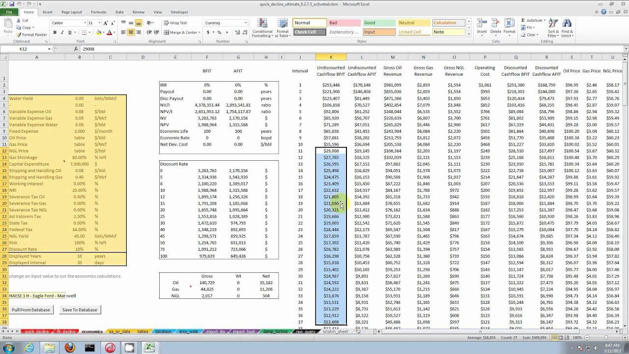 Quick Decline Ultimate - Proffesional Petroleum Decline and Economics  Analysis Software
