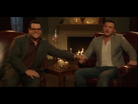 Luke Evans and Josh Gad Sing Something There About The Bachelor FUNNY - Beauty and the Beast