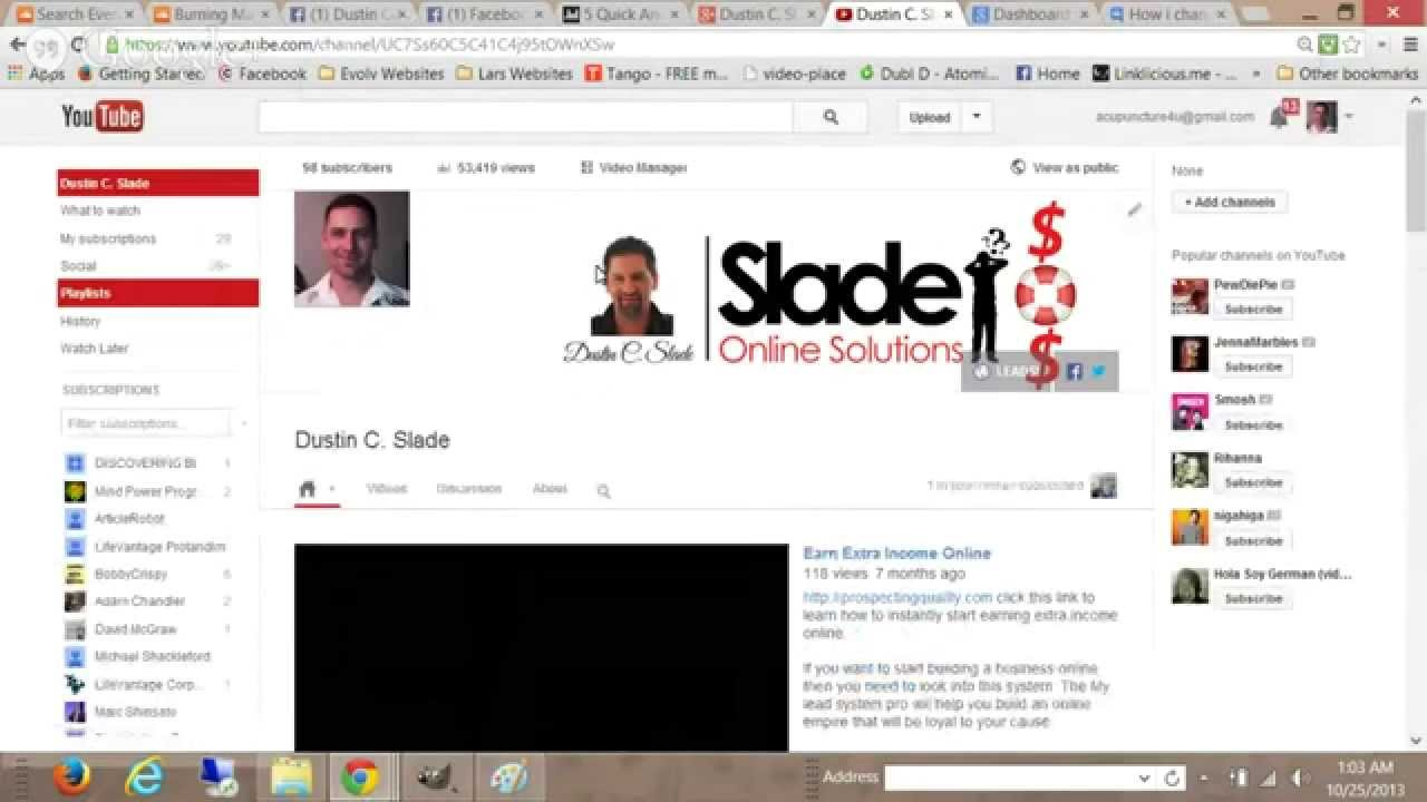 How to edit your Youtube Channel Art size - YouTube
