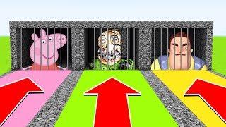 Minecraft : Do Not OPEN THE WRONG PRISON (PEPPA PIG,BALDI BASICS,HELLO NEIGHBOR) (XboxOne/PE/MCPE)