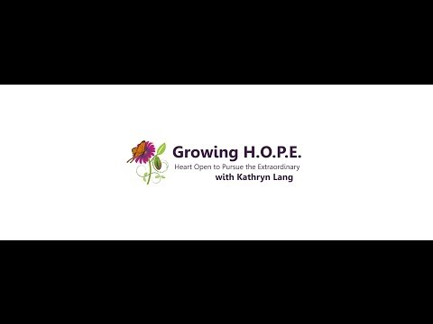 Moment of HOPE with Kathryn C. Lang - March 18, 2014